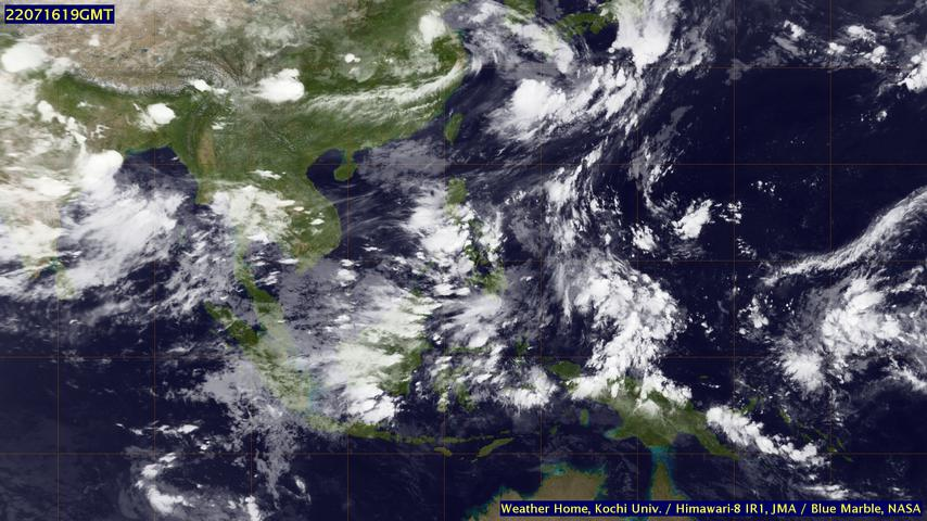 Asia Weather from Satellite